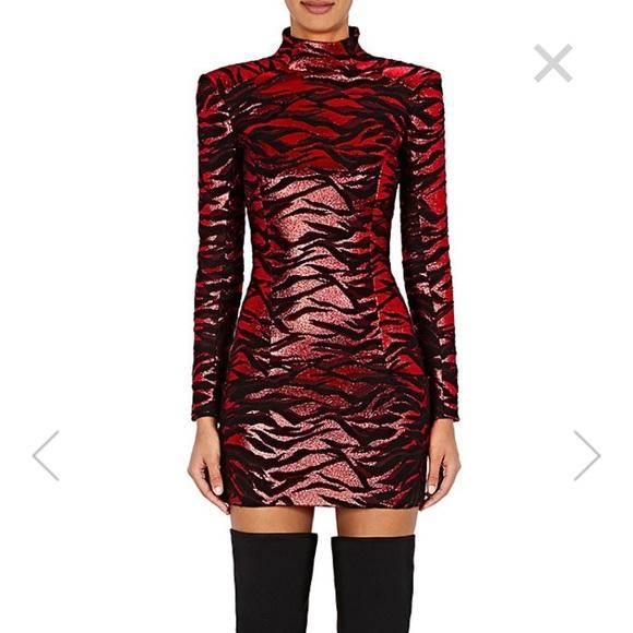 f7bb08dd74d17 Balmain Dresses | Nwt Tigerstriped Jacquard Minidress | Poshmark